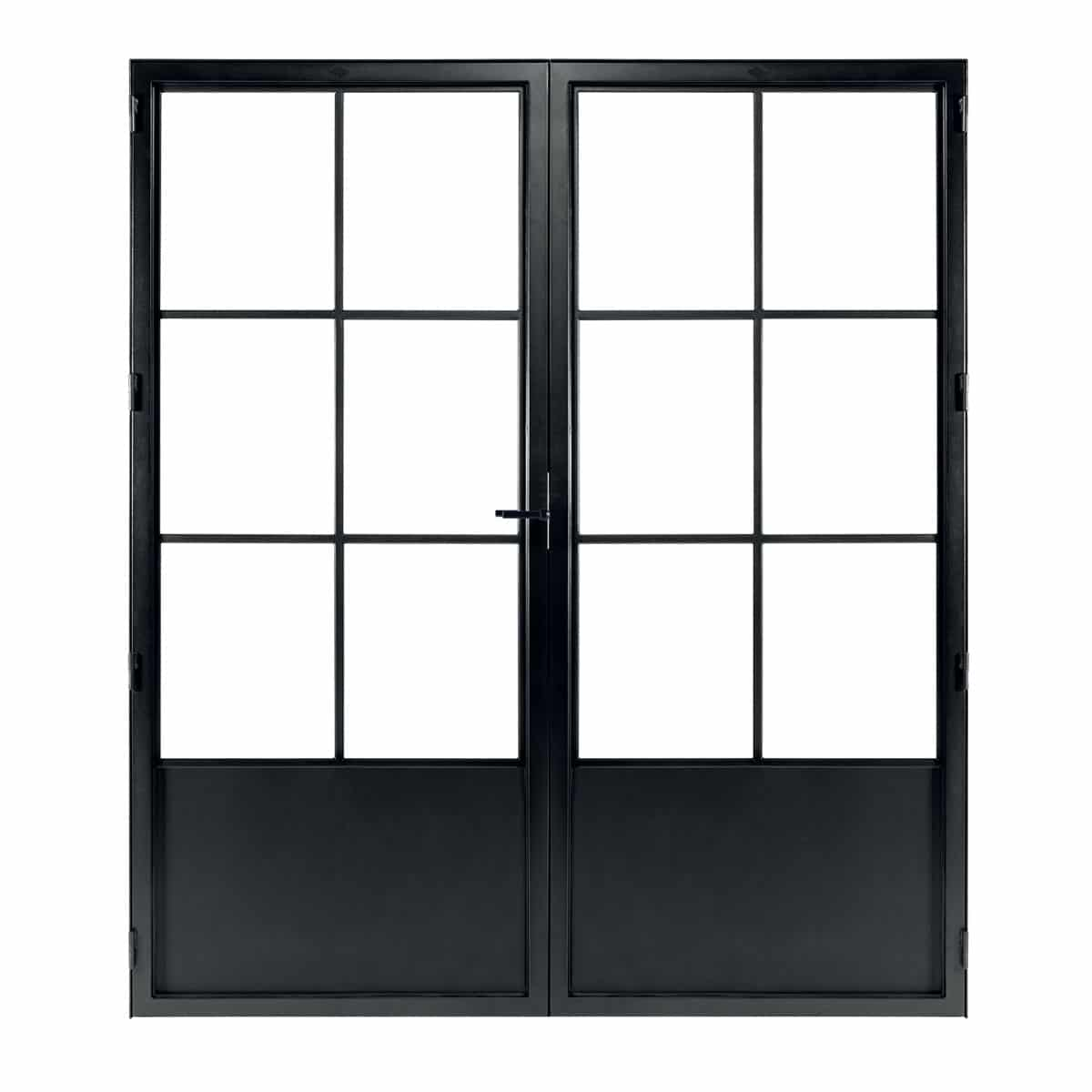 classic 6 duo steel and glass door
