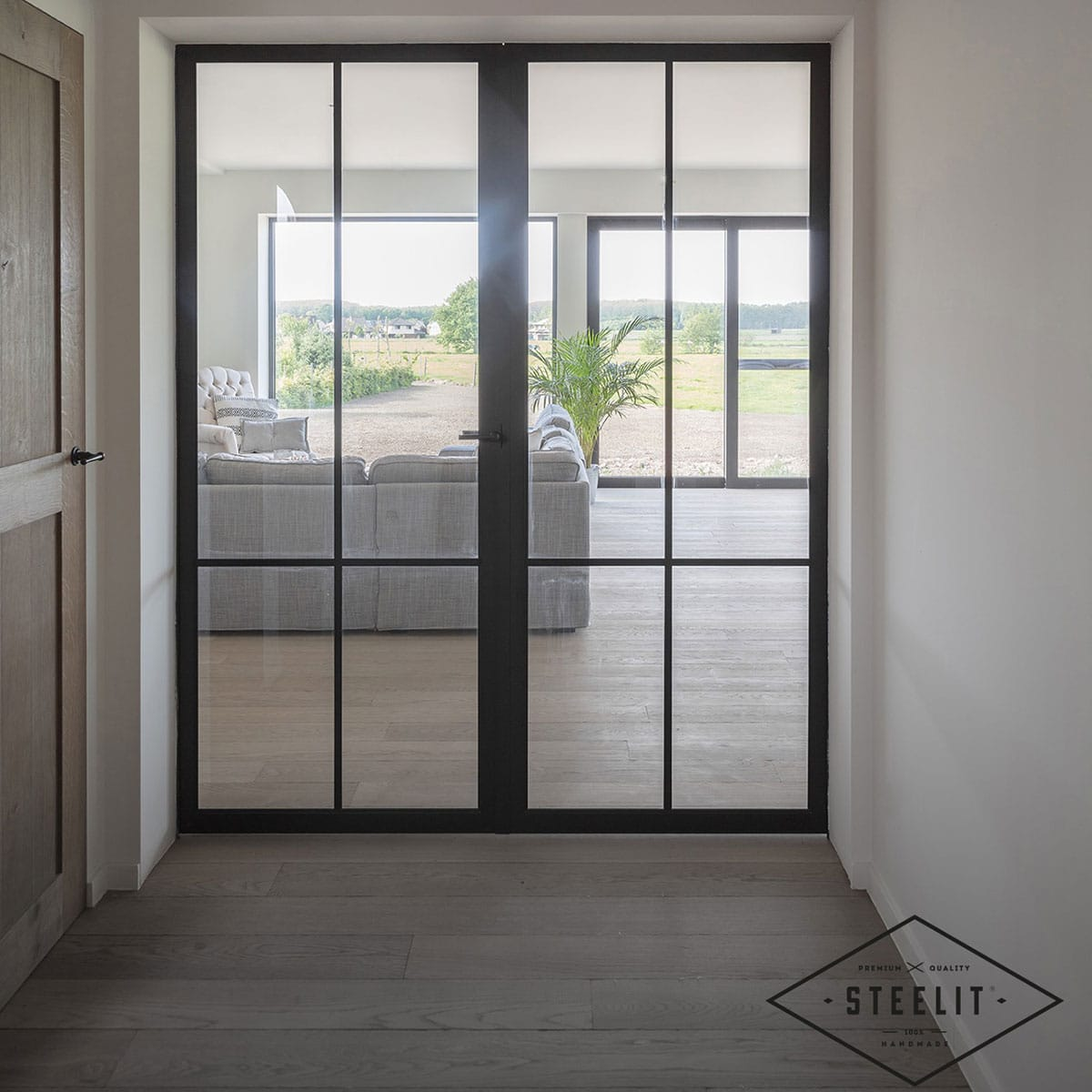 Modern Steelit door in hallway