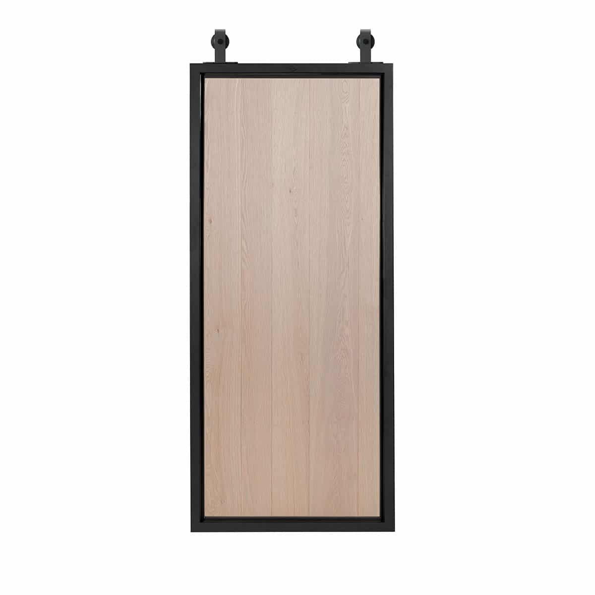 Oak rustic Slide door from steelit