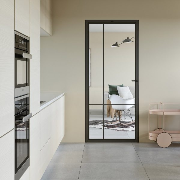 Modern steel frame door
