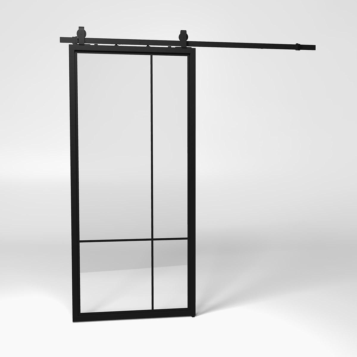 4e slide steel frame door