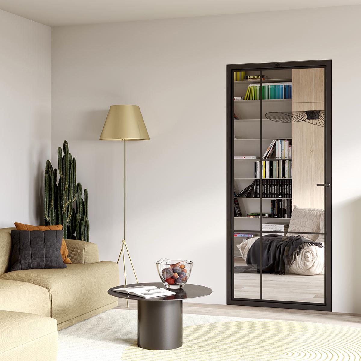 Modern 4E steel frame door